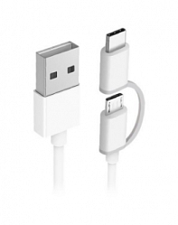 Кабель Xiaomi ZMI 2 in 1 USB Type-C/Micro 100см (AL501) White