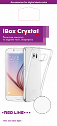 Силиконовая накладка Red Line Ibox Crystal для Iphone 5/5S/5C/SE Transparent/Blue