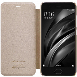 Чехол Nillkin Sparkle Series Leather Case для Xiaomi Mi6 Gold