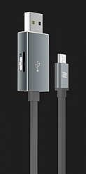 Кабель Rock с функцией карт-ридера для MicroSD Micro USB OTG Reader & Cable (RHD0908) Space Grey