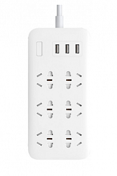 Удлинитель Xiaomi Mi Power Strip 6 розеток, 3 USB White
