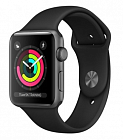 Apple Watch Series 3 38mm Aluminum Case with Sport Band MQKV2 Grey/Black