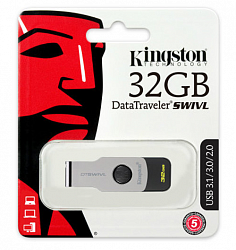 Kingston 32GB USB 3.0 DataTraveler Swivl  Silver