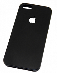 Накладка для Iphone 5/5S/SE Логотип Apple Black
