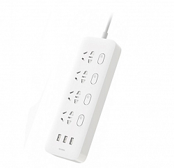 Удлинитель Xiaomi Mi Power Strip 4 розетки, 3 USB White