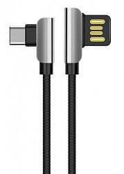 Кабель Hoco U42 Exquisite Steel Data Type-C Cable Black