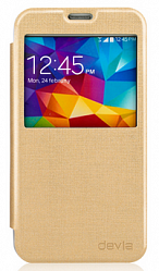 Чехол Devia Luxuri Series для Samsung Galaxy S5 G900 Gold