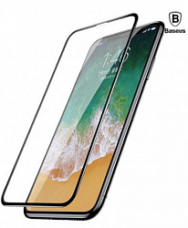 Защитное стекло Baseus Silk-screen All-screen Tempered Glass Film for IPhone X Black
