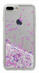 Накладка DYP Liquid Case для Iphone 7/Iphone 8 Hearts Pink/Silver
