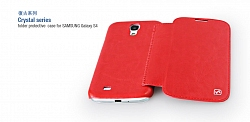 Чехол Hoco Royal Series Crystal Leather case for Samsung I9500 Red