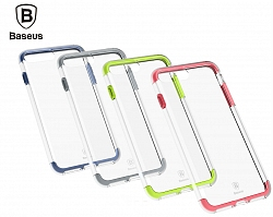 Накладка Baseus Armor Case TPU+TPE для Iphone 7 Plus Transparent/Red