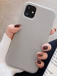 Накладка Silicon Case для Iphone 11 Light Grey