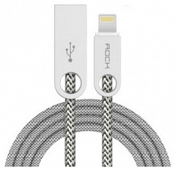 Кабель USB/Lightning Rock Cobblestone Charge & Sync Round Cable 1000mm (rcb0431) Cream