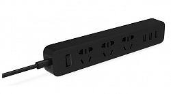 Удлинитель Xiaomi Mi Power Strip 3 розетки, 3 USB (XMCXB01QM) Black